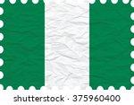 wrinkled paper nigeria stamp ... | Shutterstock .eps vector #375960400