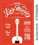 Vintage Live Music Poster...