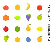 set of vector flat fruits vol.4 | Shutterstock .eps vector #375976750