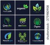 set of logo template for... | Shutterstock .eps vector #375980908