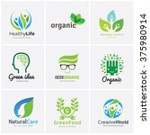 set of logo template for...   Shutterstock .eps vector #375980914