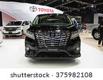 Small photo of NONTHABURI, THAILAND - MARCH 24: The Toyota All New Alphard is on display at the 36th Bangkok International Motor Show 2015 on March 24, 2015 in Nonthaburi, Thailand.
