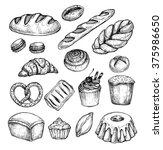 hand drawn vector illustration  ... | Shutterstock .eps vector #375986650