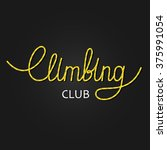climbing club lettering made of ... | Shutterstock .eps vector #375991054