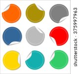 round sale stickers on white... | Shutterstock .eps vector #375997963