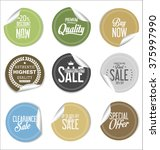 round sale stickers on white... | Shutterstock .eps vector #375997990