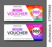 gift voucher template on... | Shutterstock .eps vector #375998068
