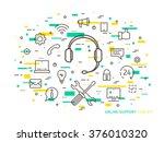 linear online support  online... | Shutterstock .eps vector #376010320