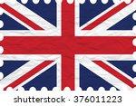 wrinkled paper united kingdom... | Shutterstock .eps vector #376011223