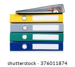 colorful file folders  isolated ... | Shutterstock . vector #376011874