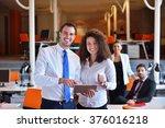 image of business partners... | Shutterstock . vector #376016218