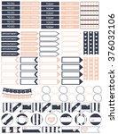 planner stickers printable... | Shutterstock .eps vector #376032106
