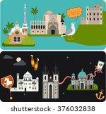 vector flat material web banner ... | Shutterstock .eps vector #376032838