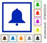 set of color square framed bell ...