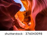 Small photo of Lower Antelope Canyon. Arizona. USA