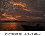 Small photo of The day ends at sunset and the nightfall begins afterward on Tokoriki islands in Fiji. Great sunset moment.