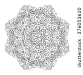 mandala pattern. doodle drawing.... | Shutterstock .eps vector #376053610