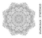 mandala pattern. doodle drawing....   Shutterstock .eps vector #376053610