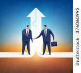 cooperation. concept business... | Shutterstock . vector #376060993