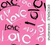 illustration love handwritten... | Shutterstock . vector #376062163