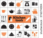set of kitchen tools... | Shutterstock . vector #376074004