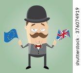 British Man With European Flag...