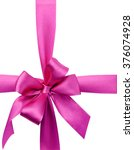 pink bow isolated on white | Shutterstock . vector #376074928