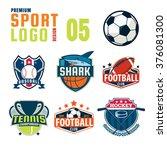sport logo design set | Shutterstock .eps vector #376081300