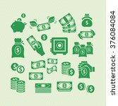 money vector icons    Shutterstock .eps vector #376084084