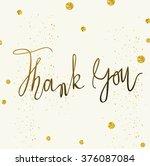 vector thank you card template... | Shutterstock .eps vector #376087084