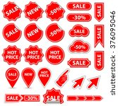 sale banner and elements.... | Shutterstock .eps vector #376095046