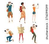 set of vector illustrations of... | Shutterstock .eps vector #376099099
