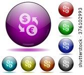 set of color dollar euro...
