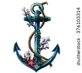 Vintage Sea Anchor With Shell ...