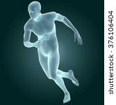 Human Male Body  Running