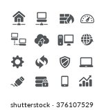 network icons    utility series | Shutterstock .eps vector #376107529