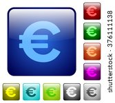 set of euro sign color glass...