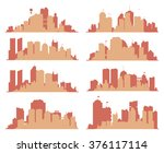 set of generic big city... | Shutterstock .eps vector #376117114