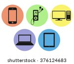 vector electronic devices icons