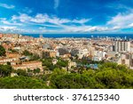 panoramic view of barcelona... | Shutterstock . vector #376125340