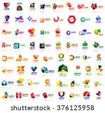 mega set of geometrical... | Shutterstock .eps vector #376125958