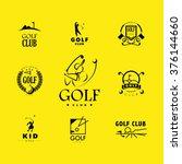vector flat golf logo design... | Shutterstock .eps vector #376144660