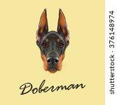 Doberman Pinscher Dog. Vector...