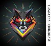 geometric wolf head | Shutterstock .eps vector #376149046