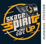 skate board typography  t shirt ... | Shutterstock .eps vector #376151668