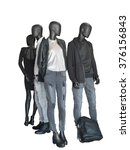 group of mannequins wear casual ... | Shutterstock . vector #376156843