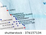 map view of hamilton island on...   Shutterstock . vector #376157134