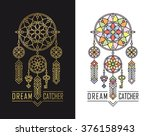 dream catcher icons in linear... | Shutterstock .eps vector #376158943