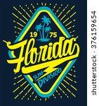 florida beach typography  t... | Shutterstock .eps vector #376159654
