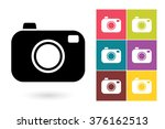 set of photo camera icons ...   Shutterstock .eps vector #376162513